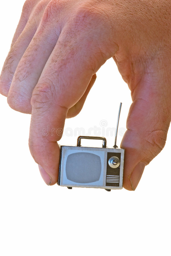 Download Small TV stock image. Image of television, electronics - 7852541