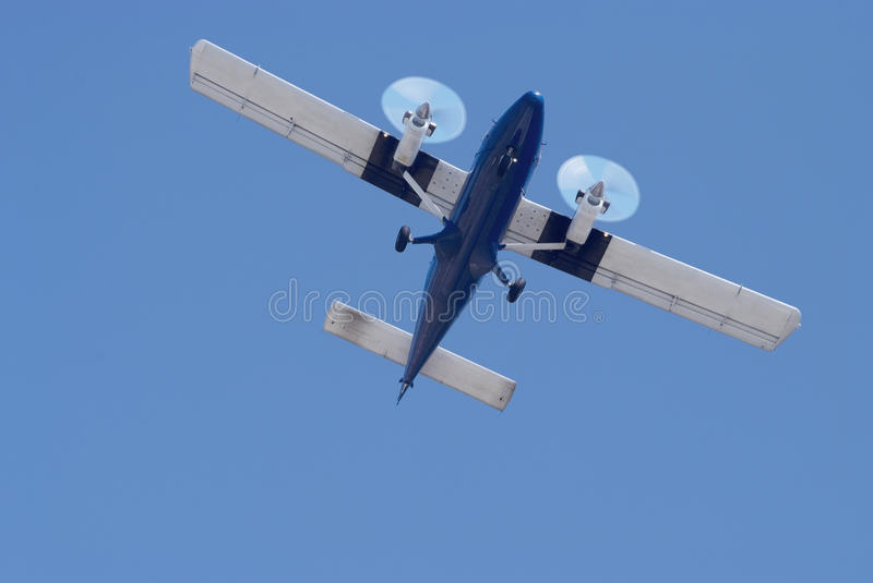 Small twin engine airplane royalty free stock photography