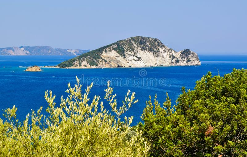 Marathonisi island, Greece. stock photos