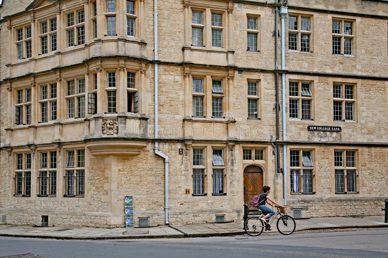 In a small university city such as Oxford, cycling is the best way to get around, royalty free stock photos