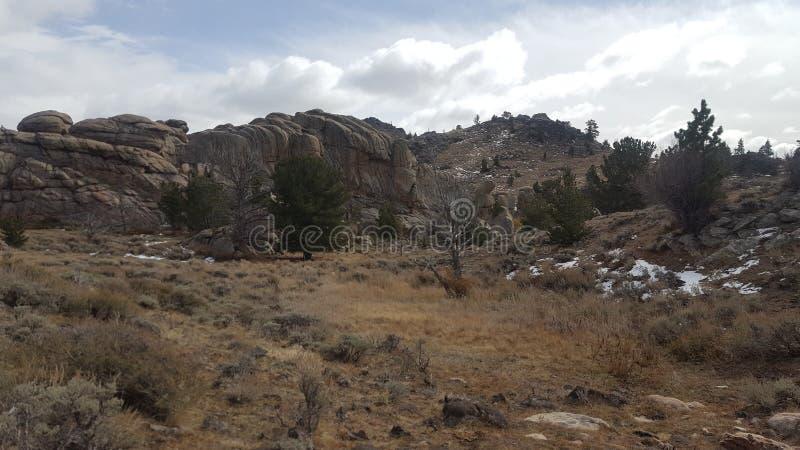 A holler on the Laramie Mountain range royalty free stock photo