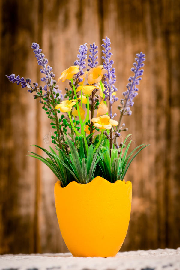 Small vase of flowers stock photos