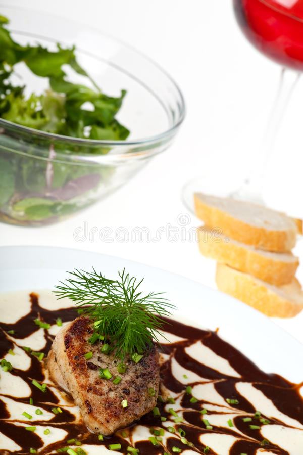 Small veal steak stock images