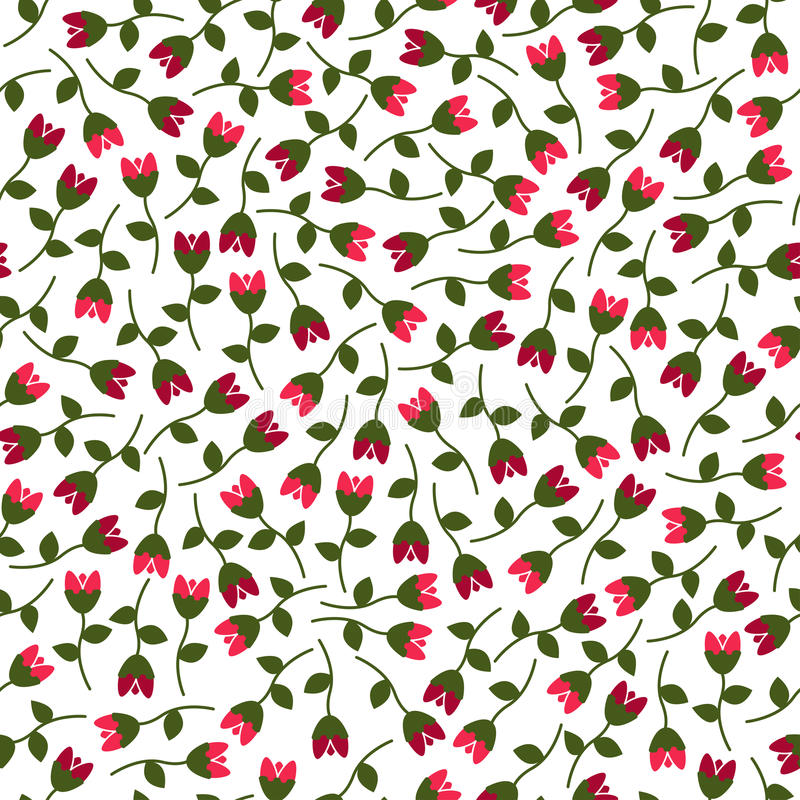Small vector flowers seamless pattern. royalty free stock photos