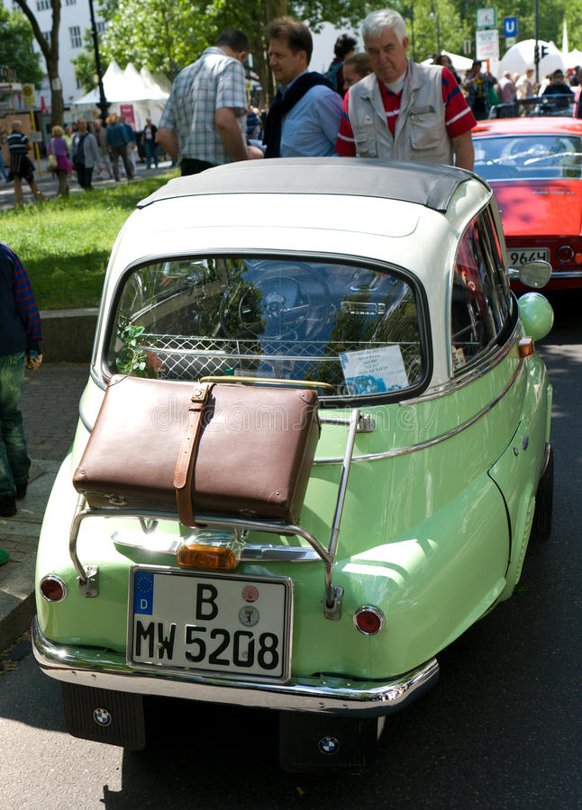 A small vehicle BMW Isetta 250