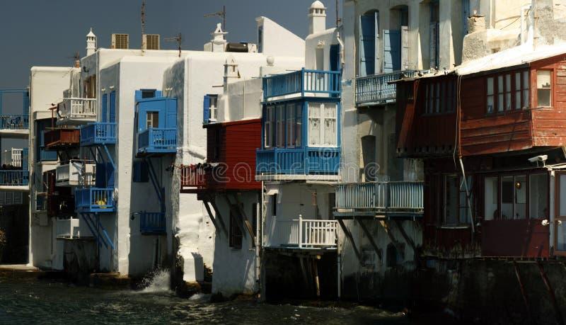 Small venice - Mykonos. Small Venise area of Mykonos Greece royalty free stock photography