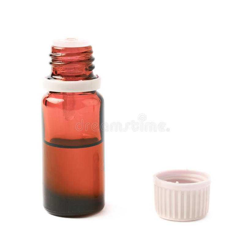 Small vial flask isolated stock photography