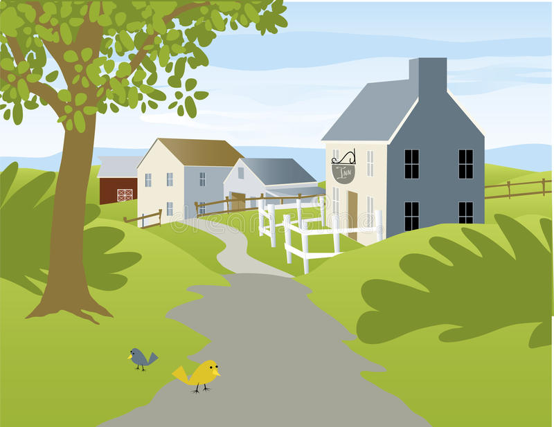 Small Village royalty free illustration