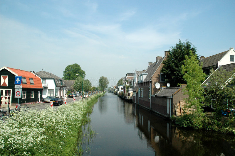 Small village. In Holland, named Kortenhoef stock photography