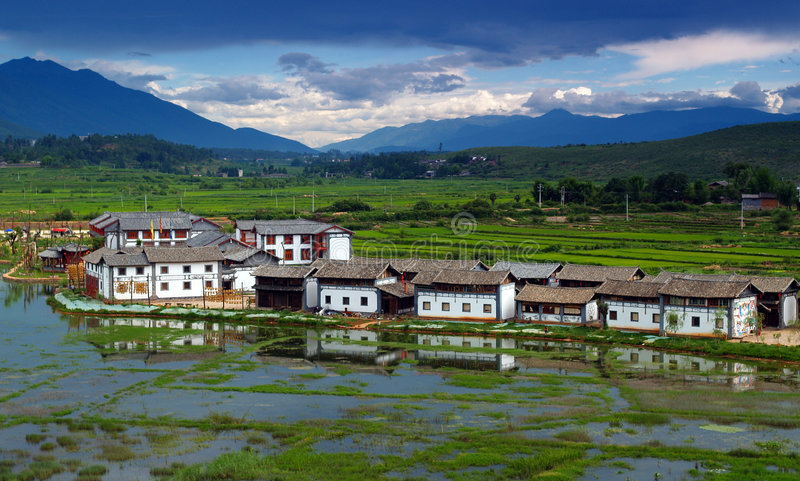 A small village in China royalty free stock photos