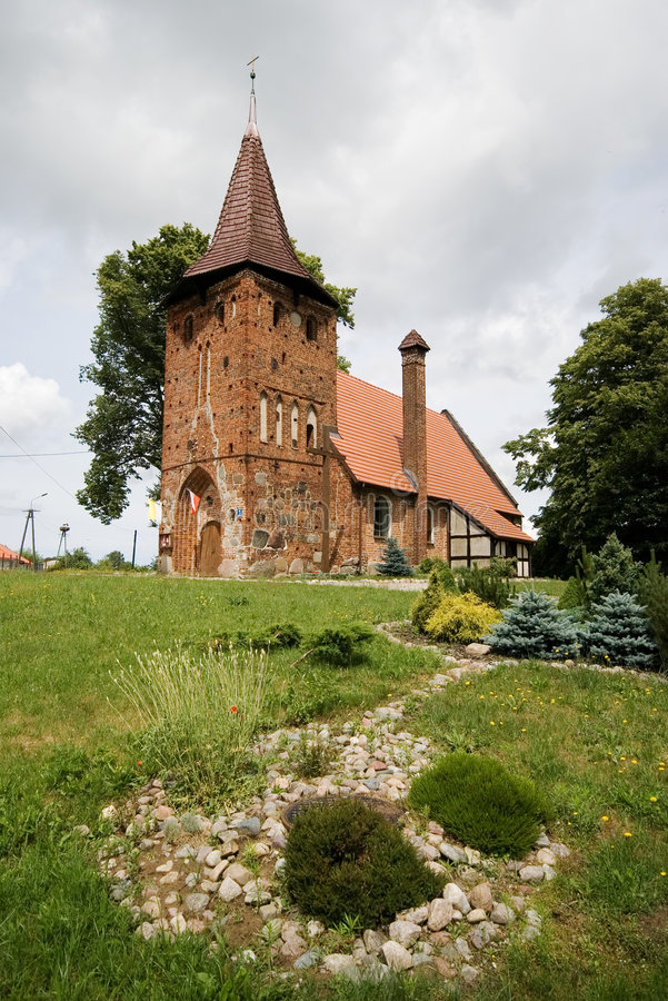 Free Small Village Church On Hill Stock Image - 3887741