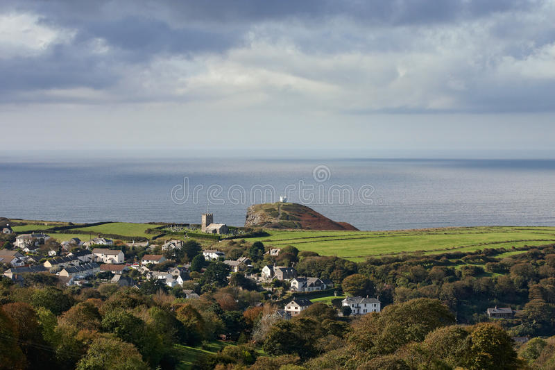 A Small Village In Cornwall Stock Images