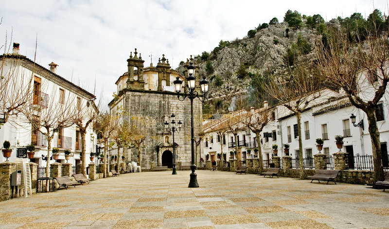 Small village of Grazalema, Spain. Europe stock photo