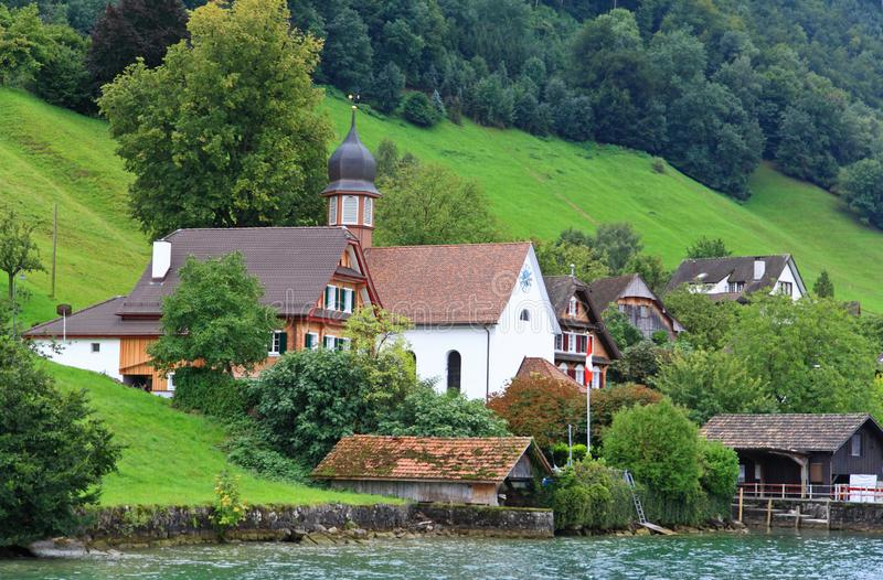 Download The Small Village On The Hills Around Lake Luzern Stock Photo - Image: 6764212