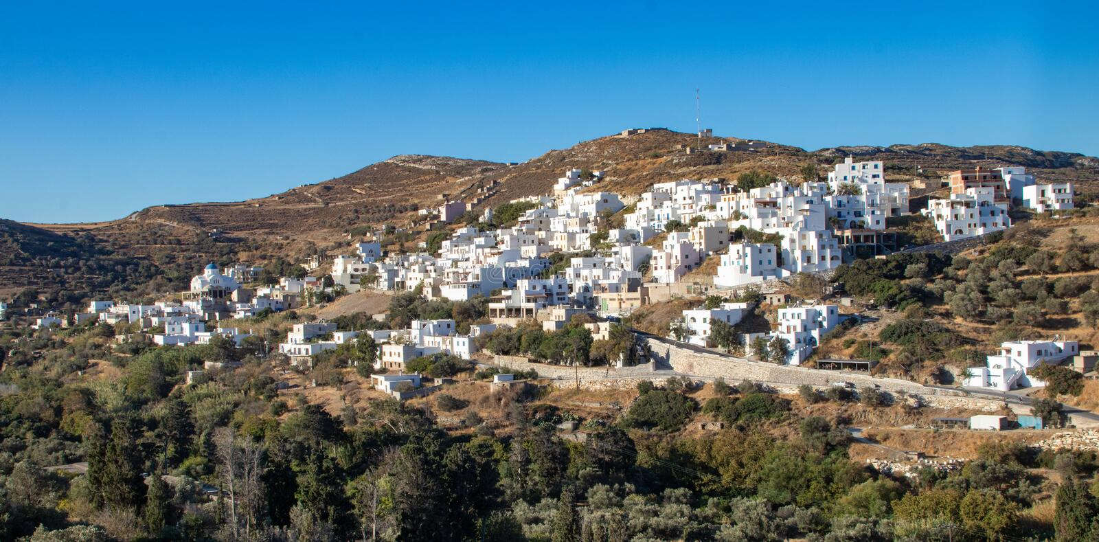Small Village on the Island of Naxos. A small inland village on the island of Naxos, Greece royalty free stock photos