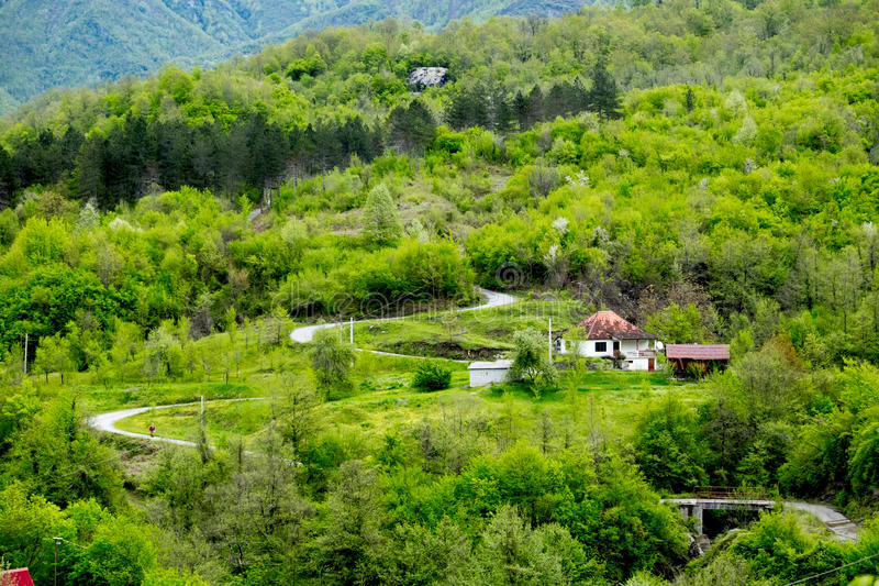Small village in Mountains. Montenegro. royalty free stock photography
