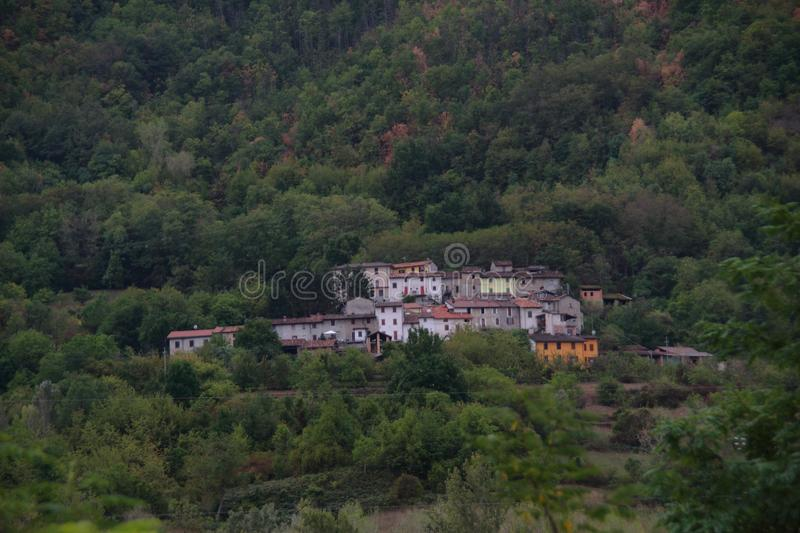 small village in the mountains stock photos