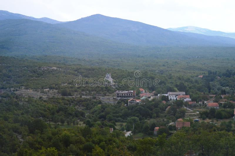 Villages in the hills. Small villages in the hills stock photography