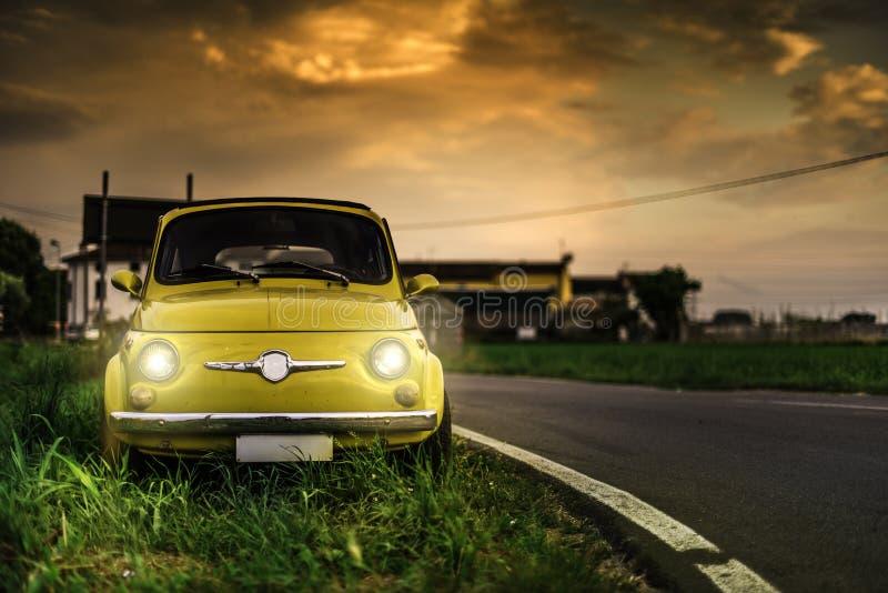 Small vintage italian car Fiat Abarth stock photo