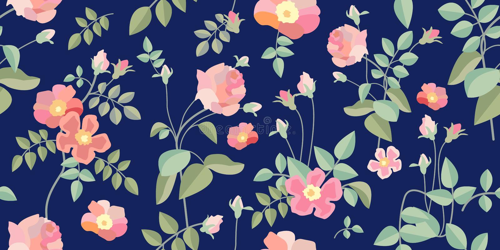 Small vintage roses. stock image