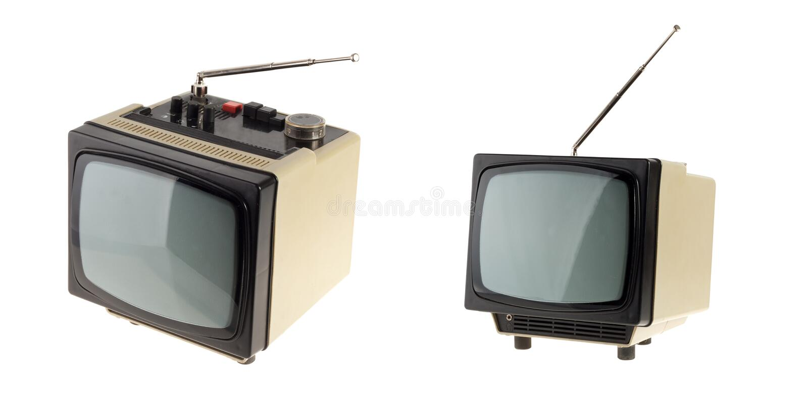 Download Small vintage TV stock illustration. Image of dirty, signal - 22434135