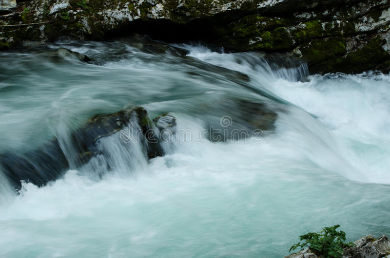 Small Vintgar Gorge Waterfall royalty free stock photos