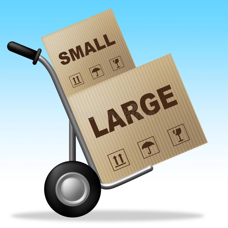 Small Vs Large Package Shows Trade Variation Or Shipping And Delivery - 3d Illustration vector illustration