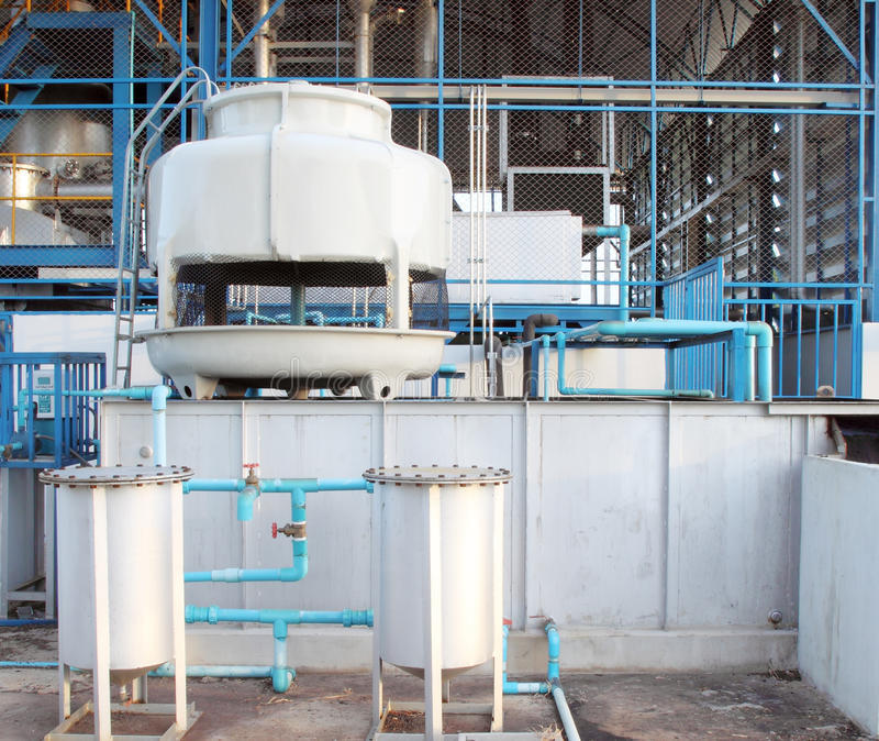 Small water cooling tower system royalty free stock photos
