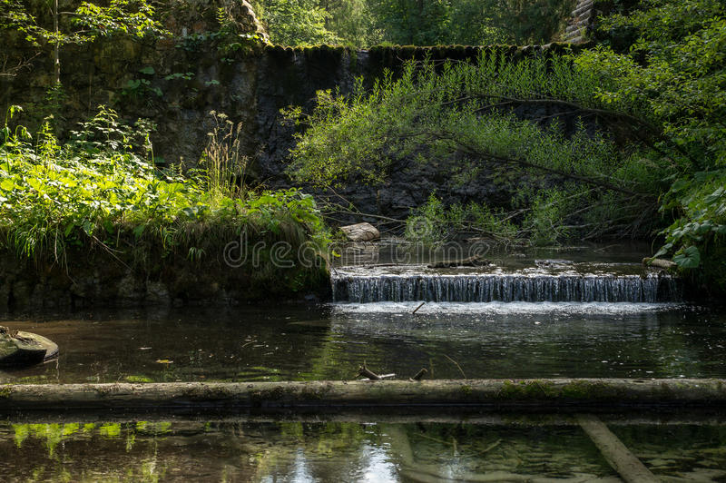 Small water creek stock photo