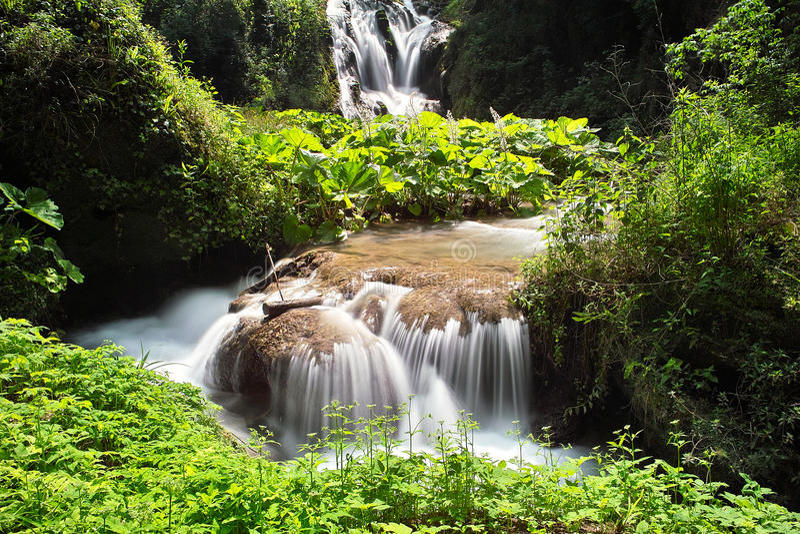 Download Small waterfall stock image. Image of season, nature - 15406759