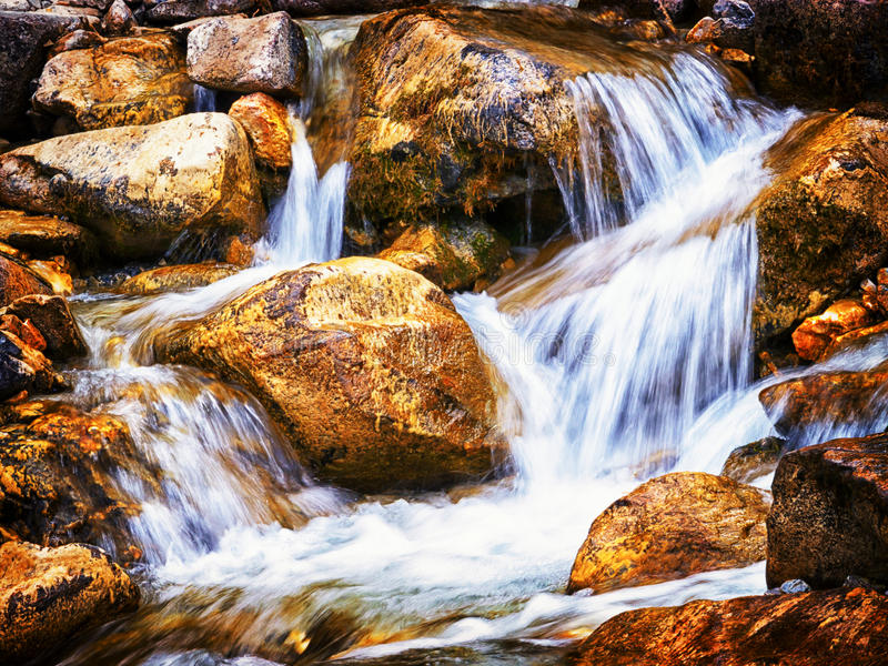 Small waterfall royalty free stock photography