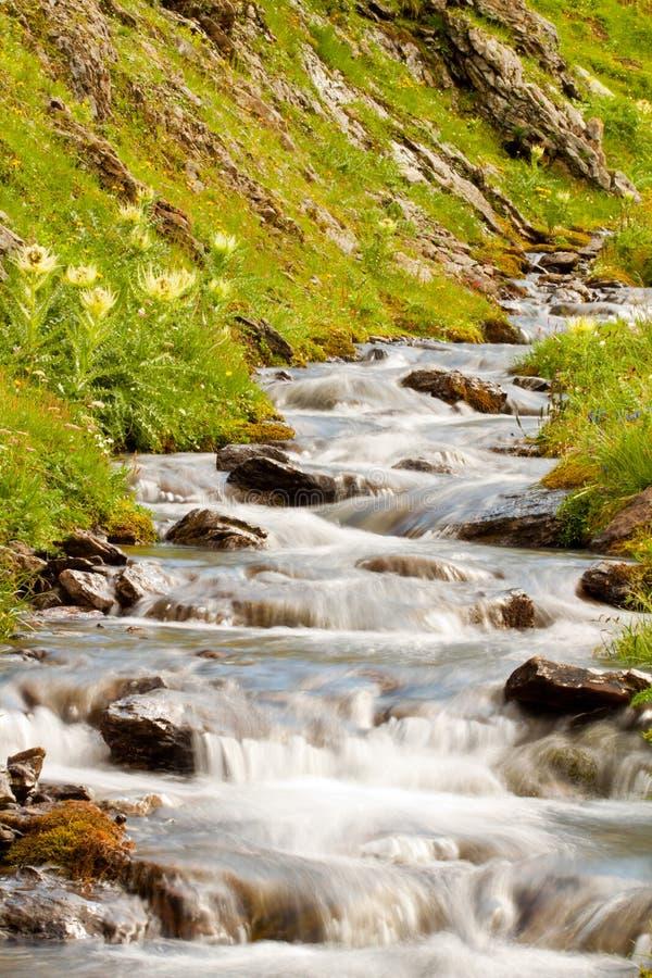 Small waterfall cascade stock photo