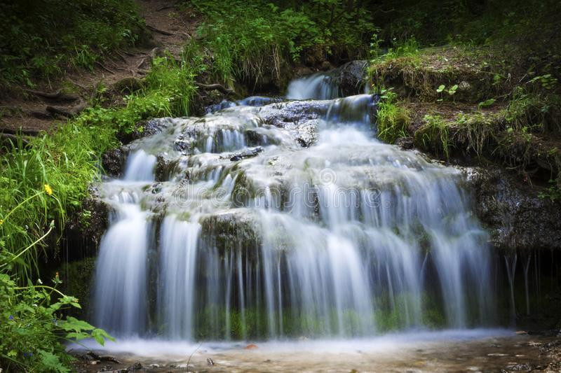 A small waterfall in the central part of Europe.  stock photos