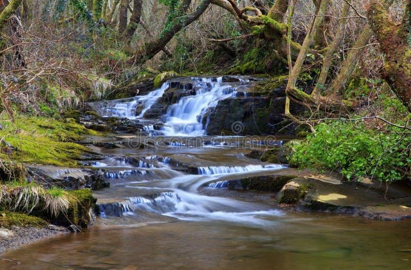 Small waterfall, Creunant just below Pwll y Alun royalty free stock photo