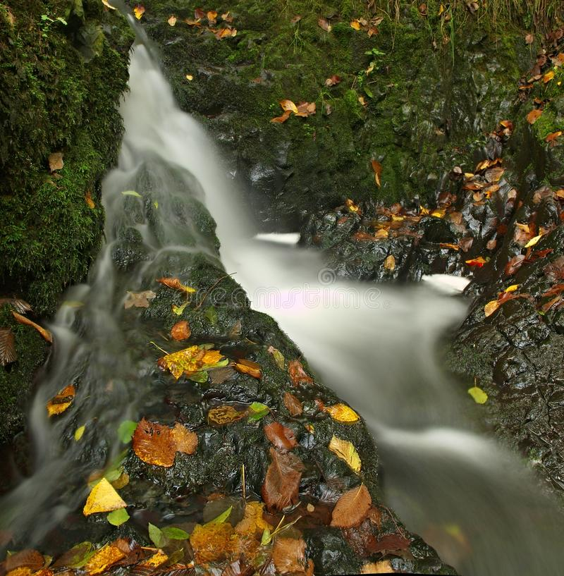 Free Small Waterfall Full Of Water After Rain. Royalty Free Stock Images - 34963979