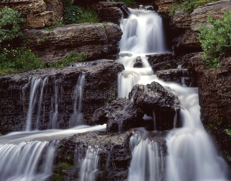 Download Small Waterfall (H) stock photo. Image of glacier, going - 709000