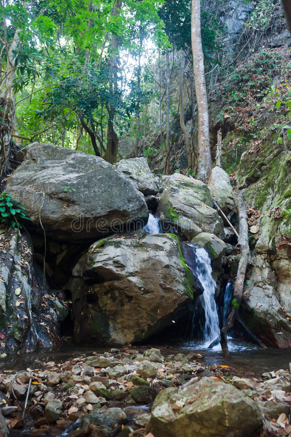 Download Small waterfall in stream stock image. Image of cascade - 24067059