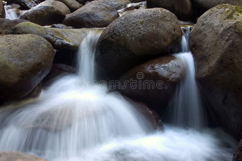 Small waterfalls. royalty free stock image