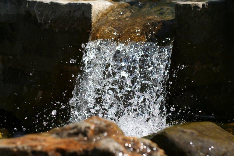 Small waterfalls detail stock image
