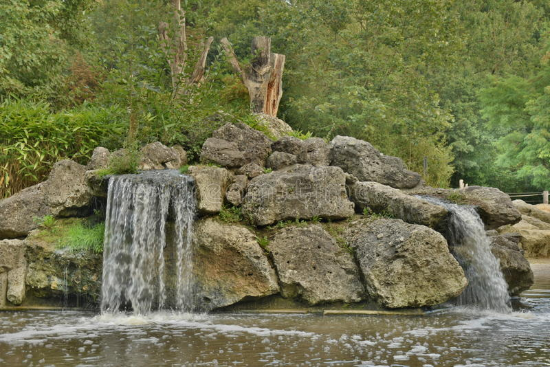 Small Waterfalls Over Rocks royalty free stock image