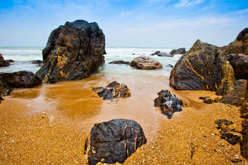 Download Small Waves stock image. Image of flow, coast, rocks - 20828241