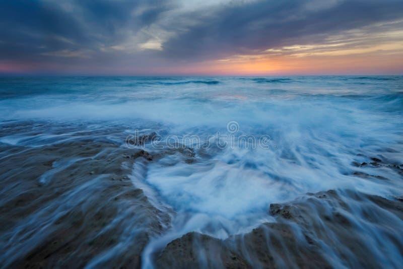 Ocean vortex serene sunset seascape royalty free stock images