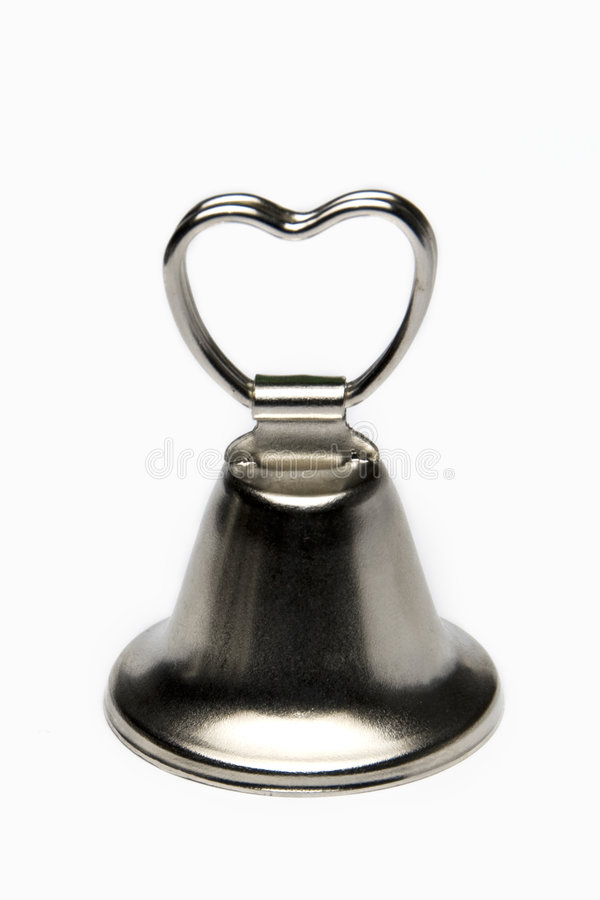 Small wedding bell isolated on white stock photos