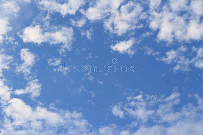 Small white clouds royalty free stock image