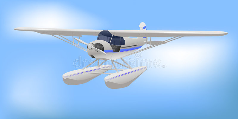 Small White Light Aircraft. Small White Light Commercial Aircraft Vector Illustration royalty free illustration