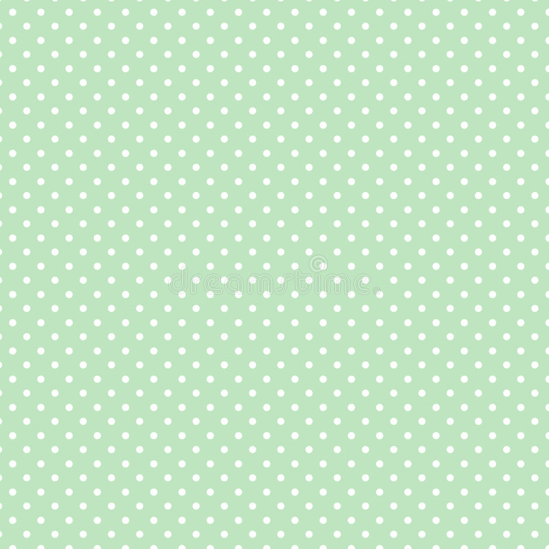 Small White Polka dots on Pastel Green, Seamless Background vector illustration