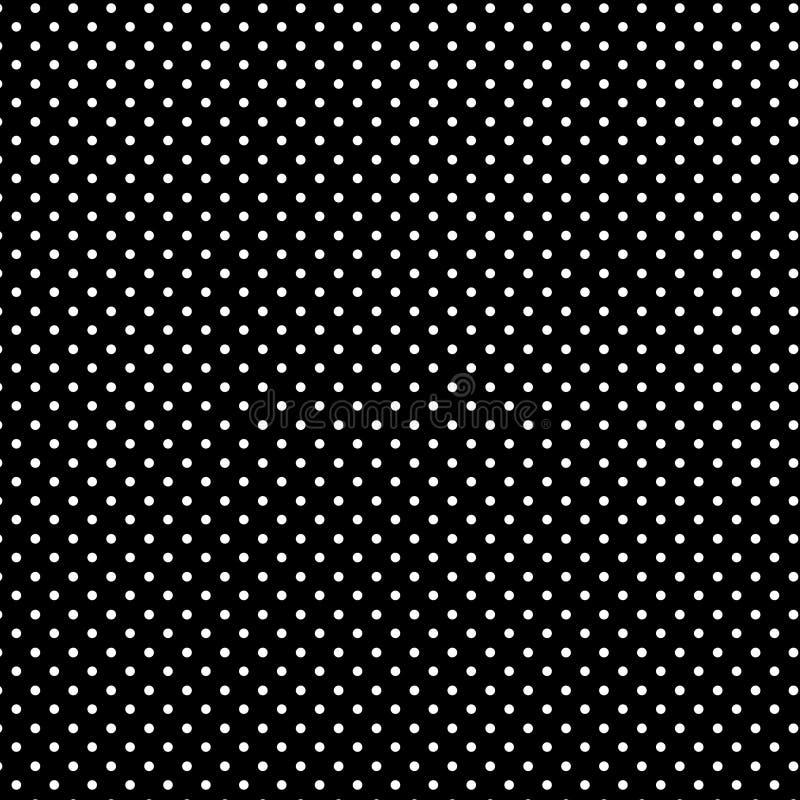 Small White Polkadots, Black Background