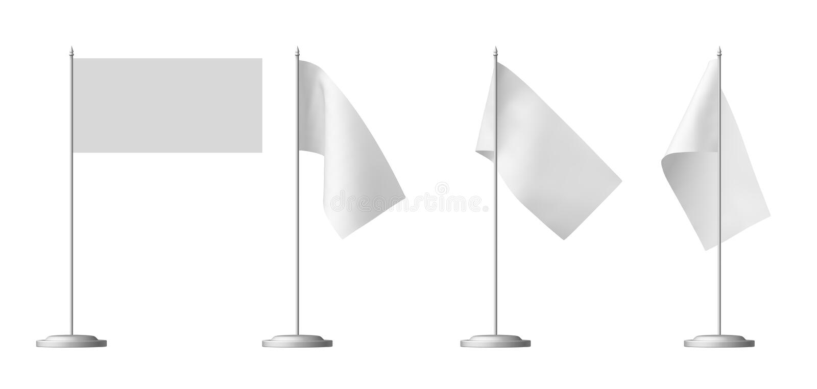 Download Small White Table Flag Set Stock Illustration. Illustration Of  Flagpole   43608011