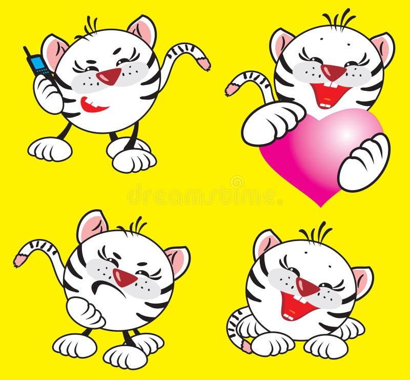 Download Small white tiger stock vector. Image of tiger, predator - 12713914