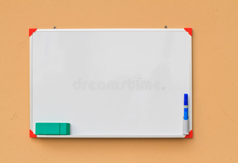 Small whiteboard stock photography